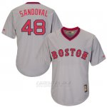 Camiseta Beisbol Hombre Boston Red Sox Pablo Sandoval Turn Back The Clock Gris