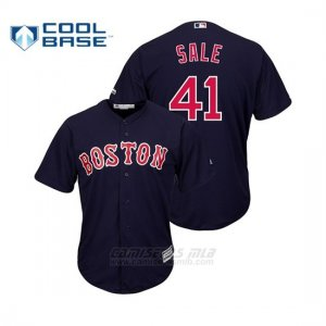 Camiseta Beisbol Hombre Boston Red Sox Chris Sale Cool Base Alternato Majestic Official Azul