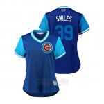 Camiseta Beisbol Mujer Chicago Cubs Drew Smyly 2018 Llws Players Weekend Smiles Royal