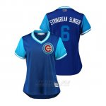 Camiseta Beisbol Mujer Chicago Cubs Carl Edwards Jr 2018 Llws Players Weekend Stringbean Slinger Royal