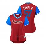 Camiseta Beisbol Mujer Philadelphia Phillies Luis Garcia 2018 Llws Players Weekend Compa G Scarlet