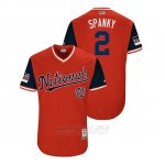 Camiseta Beisbol Hombre Washington Nationals Adam Eaton 2018 Llws Players Weekend Spanky Rojo