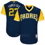 Camiseta Beisbol Hombre San Diego Padres 2017 Little League World Series Jerojo Weaver Azul