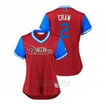 Camiseta Beisbol Mujer Philadelphia Phillies J.p. Crawford 2018 Llws Players Weekend Craw Scarlet