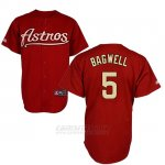 Camiseta Beisbol Hombre Houston Astros 5 Jeff Bagwell Rojo Turn Back The Clock