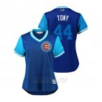 Camiseta Beisbol Mujer Chicago Cubs Anthony Rizzo 2018 Llws Players Weekend Tony Royal