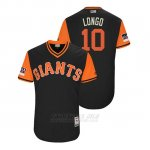 Camiseta Beisbol Hombre San Francisco Giants Evan Longoria 2018 Llws Players Weekend Longo Negro
