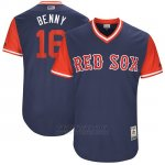 Camiseta Beisbol Hombre Boston Red Sox 2017 Little League World Series 16 Andrew Benintendi Azul