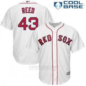 Camiseta Beisbol Hombre Boston Red Sox 43 Addison Reed Blancohome Cool Base