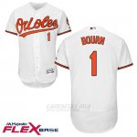 Camiseta Beisbol Hombre Baltimore Orioles 1 Michael Bourn Blanco Flex Base