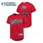 Camiseta Beisbol Nino Cleveland Indians Yasiel Puig Cool Base Alternato Rojo