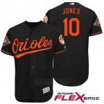 Camiseta Beisbol Hombre Baltimore Orioles 10 Adam Jones Negro 2017 Flex Base