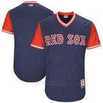Camiseta Beisbol Hombre Boston Red Sox Players Weekend 2017 Personalizada Azul