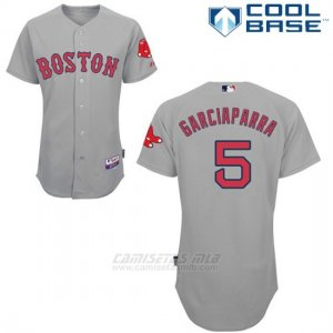Camiseta Beisbol Hombre Boston Red Sox 5 Nomar Garciaparra Gris Cool Base