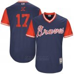 Camiseta Beisbol Hombre Atlanta Braves 2017 Little League World Series 17 Johan Camargo Azul
