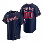 Camiseta Beisbol Hombre Washington Nationals Personalizada Replica Azul
