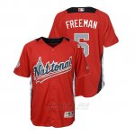 Camiseta Beisbol Nino All Star Game Majestic Freddie Freeman 2018 Primera Run Derby National League Rojo