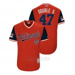 Camiseta Beisbol Hombre Washington Nationals Gio Gonzalez 2018 Llws Players Weekend Double G Rojo