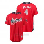 Camiseta Beisbol Hombre All Star Game Cardinals Yadier Molina 2018 Primera Run Derby National League Rojo