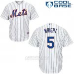 Camiseta Beisbol Hombre New York Mets 5 David Wright Blanco Cool Base