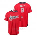 Camiseta Beisbol Hombre All Star Game Chicago Cubs Javier Baez 2018 Primera Run Derby National League Rojo