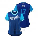 Camiseta Beisbol Mujer Kansas City Royals Hunter Dozier 2018 Llws Players Weekend Doz Royal