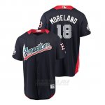 Camiseta Beisbol Hombre All Star Game Boston Rojo Sox Mitch Moreland 2018 Primera Run Derby American League Azul