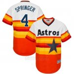Camiseta Beisbol Hombre Houston Astros George Springer Turn Back The Clock Naranja