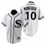 Camiseta Beisbol Hombre Chicago White Sox Yoan Moncada 1990 Turn Back The Clock Blanco
