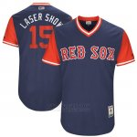 Camiseta Beisbol Hombre Boston Red Sox 2017 Little League World Series 15 Dustin Pedroia Azul