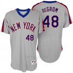 Camiseta Beisbol Hombre New York Mets New York Met Jacob Degrom Turn Back The Clock Gris