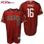 Camiseta Beisbol Hombre Arizona Diamondbacks 16 Chris Owings 2017 Entrenamiento de Primavera Flex Base