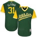 Camiseta Beisbol Hombre Oakland Athletics 2017 Little League World Series Liam Hendriks Verde