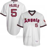 Camiseta Beisbol Hombre Los Angeles Angels Albert Pujols Turn Back The Clock Blanco