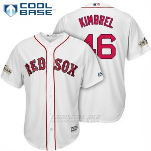 Camiseta Beisbol Hombre Boston Red Sox 2017 Postemporada 46 Craig Kimbrel Blanco Cool Base