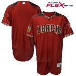 Camiseta Beisbol Hombre Arizona Diamondbacks Rojo 2017 Entrenamiento de Primavera Flex Base Team