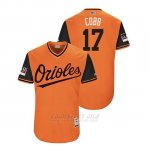 Camiseta Beisbol Hombre Baltimore Orioles Alex Cobb 2018 Llws Players Weekend Cobb Orange