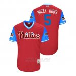 Camiseta Beisbol Hombre Philadelphia Phillies Nick Williams 2018 Llws Players Weekend Nicky Dubs Scarlet