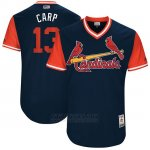 Camiseta Beisbol Hombre St. Louis Cardinals 2017 Little League World Series Matt Carpenter Azul