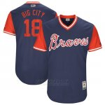 Camiseta Beisbol Hombre Atlanta Braves 2017 Little League World Series 18 Matt Adams Azul