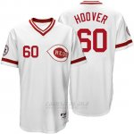 Camiseta Beisbol Hombre Cincinnati Reds 60 Jj Hoover Blanco Majestic Turn Back The Clock