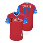 Camiseta Beisbol Hombre Philadelphia Phillies Asdrubal Cabrera 2018 Llws Players Weekend Chiquitin Scarlet