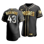 Camiseta Beisbol Hombre San Diego Padres Garrett Richards Golden Edition Autentico Negro