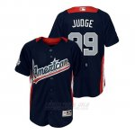 Camiseta Beisbol Nino All Star Game Majestic Aaron Judge 2018 Primera Run Derby American League Azul