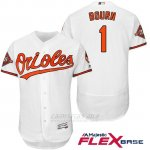 Camiseta Beisbol Hombre Baltimore Orioles 1 Michael Bourn Blanco 2017 Flex Base