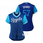 Camiseta Beisbol Mujer Kansas City Royals Glenn Sparkman 2018 Llws Players Weekend Sparky Royal