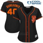 Camiseta Beisbol Mujer San Francisco Giants 40 Madison Bumgarner Negro 2017 Cool Base