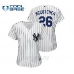 Camiseta Beisbol Mujer New York Yankees Andrew Mccutchen Cool Base Majestic 1ªBlanco