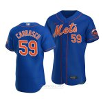 Camiseta Beisbol Hombre New York Mets Carlos Carrasco Alterno Autentico Azul