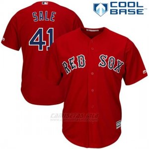 Camiseta Beisbol Hombre Boston Red Sox 41 Chris Sale Rojo2017 Cool Base